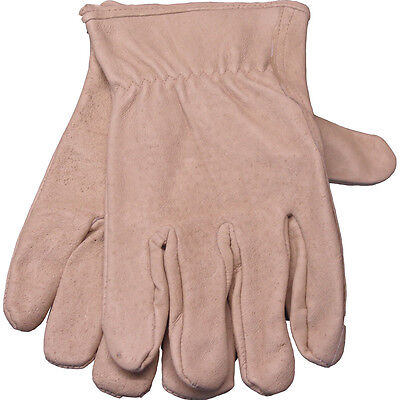1 Pair Briers Unlined Hide Garden Work Protective  Gloves (Medium) (Hides Unlined Gloves)
