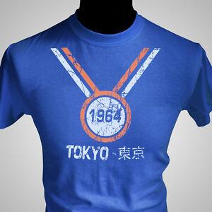TOKYO-1964-OLYMPIC-GAMES-RETRO-T-SHIRT-SPORT-JAPAN-NEW