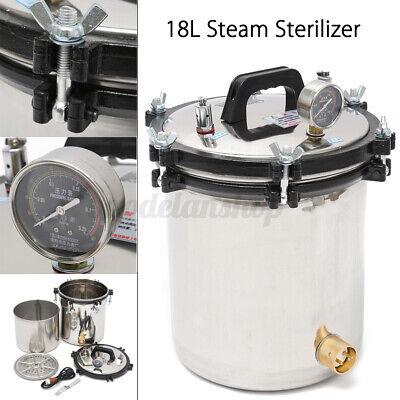 18l Professional Medical Steam Autoclave Sterilizer Dental Lab Equipment 110v Us