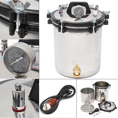 Steam Sterilization Autoclave - 18L Bottle Steam Autoclave Sterilizer Dental Pressure Sterilization Dual Heating