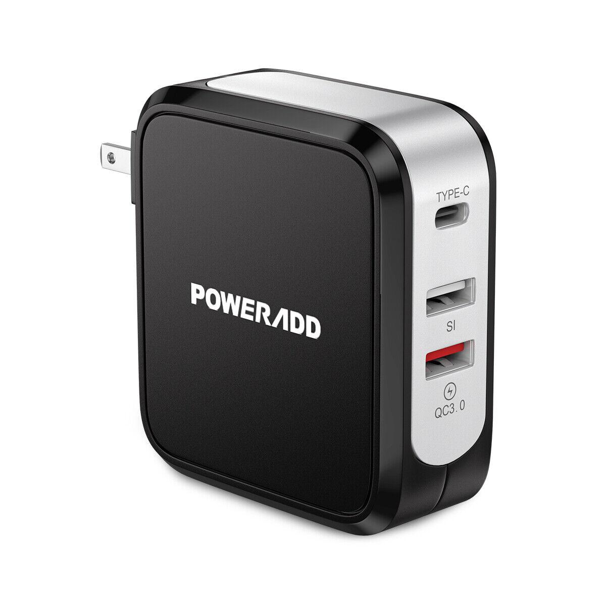 4 USB Multi Port Hub 5V 2.4A Portable Home Wall Charger Powe