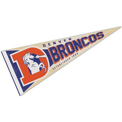 Denver Broncos Retro Vintage Logo Pennant Flag