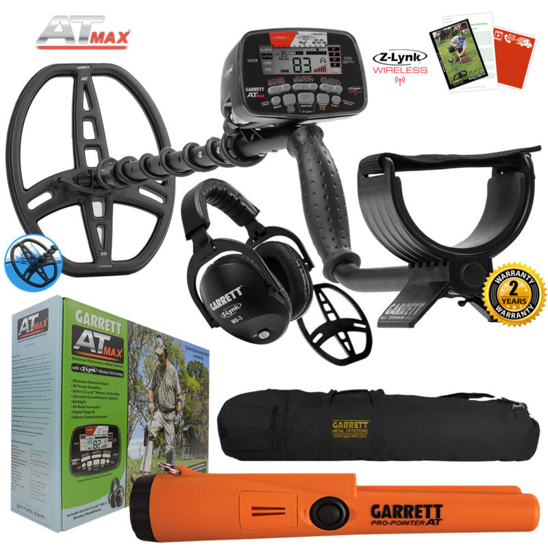 Garrett AT MAX Underwater Detector with MS-3, Pro-Pointer AT, Carry Bag & More