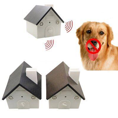 Pet Dog Outdoor Ultrasonic Anti Barking Control Birdhouse Nuisance Stop Bark Hot
