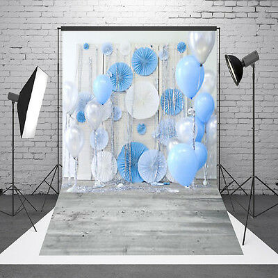 Hintergrundstoff Fotostudio 1Mx1.5M Hintergrund Ballon Holzfußboden