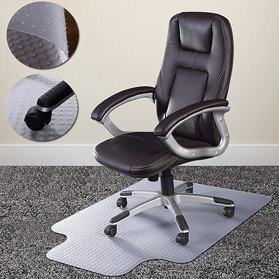 PVC  Home Office Chair Floor Mat Studded Back with Lip for S