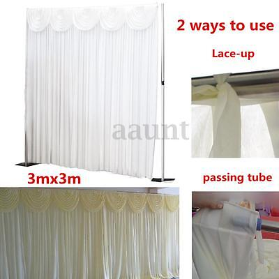 118'' 10ft Wedding Party Stage Backdrop Draping Background Swags Gauze Curtain