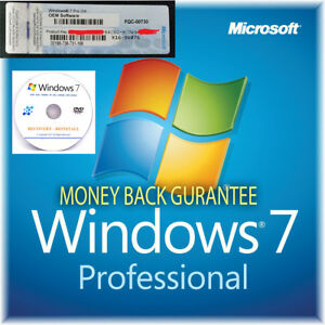 Windows 7 Professional 32/64 bit Genuine Activation Licence Key with Repair Disc