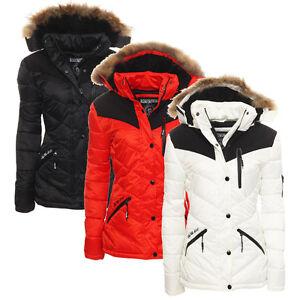 Geographical-Norway-mujer-chaqueta-de-invierno-Parka-Guateada-Corta