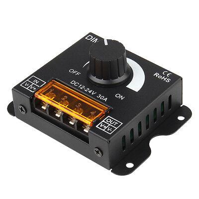- SUPERNIGHT® Dimmer Knob ON/OFF Switch PWM 0%-100% for DC 12V-24V LED Strip Light