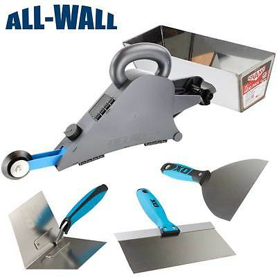 Delko Drywall Banjo Taping Tool Wcorner Wheel Mud Pan Ox Pro Knifetrowel Set