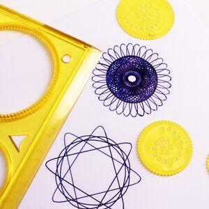 SPIRAL ART STENCIL Kid Children Game Art Craft Set Spirograph Stationery Pattern