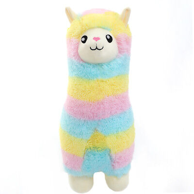 Winsterch Fluffy Soft Plush Toy Rainbow Alpaca Stuffed Llama Animal 17.7 inches](Stuffed Animal Llama)