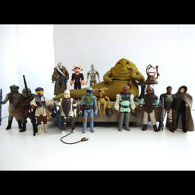 Vintage Star Wars Jabba the Hutt Playset + 12 Figures Some Original weapons