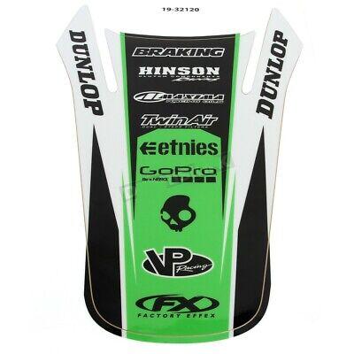Factory Effex Rear Fender Decal Sticker Graphic Black Green Kawasaki KX125 -