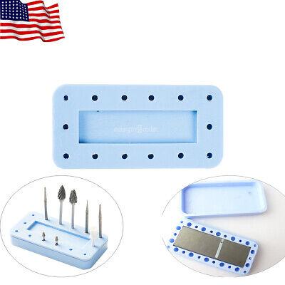 14holes Fgra Easyinsmile Dental Magnetic Bur Block Holder Rectangular Autoclave