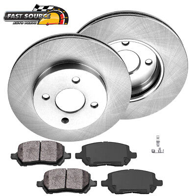 Front Brake Rotors And Metallic Pads For Chevy Cobalt Saturn Ion Pontiac -