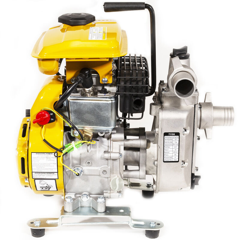 "XtremepowerUS Portable 2.5HP Gas Water Pump Semi Trash 1.5"" Air Cooled Engine"