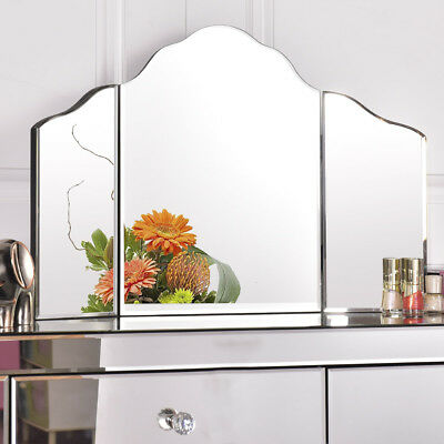 27''x18'' Large Trifold Vanity Mirror Makeup Dressing Cosmetic Mirror Tabletop