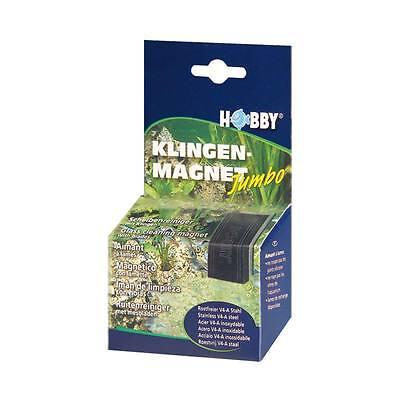 Hobby Jumbo Klingenmagnet-Magnet Limpiacristales Imán de Algas Limpiador Acuario