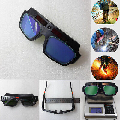 Solar Powered Auto Darkening Welding Glasses Glass Mask Helmet Eye Goggle Welder