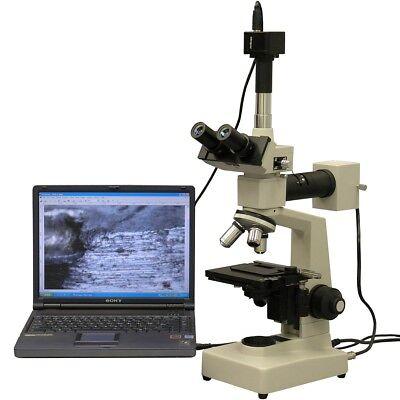 Amscope Me300ta-3m 40x-640x Epi Metallurgical Microscope 3mp Digital Camera