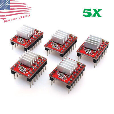 5pcs A4988 Stepper Motor Driver Module Reprap 3d Printer Pololu Stepstick Us