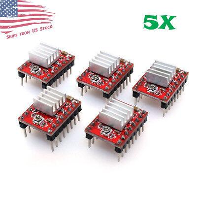 5Pcs A4988 Stepper Motor Driver Module RepRap 3D Printer Polulu StepStick US Stk