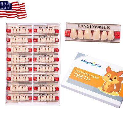 Easyinsmile1set Dental Denture Acrylic Resin Full Set Teeth Upper Lower Shade A3