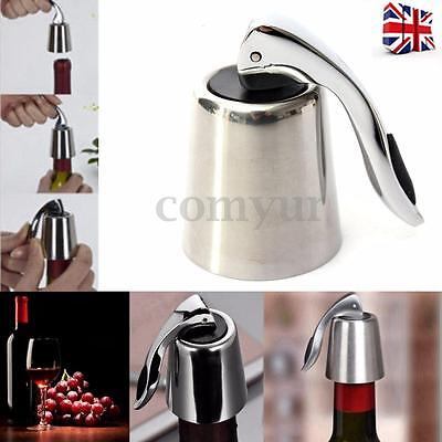 Stainless Steel Vacuum Sealed Reusable Red Wine Storage Bottle Stopper Plug