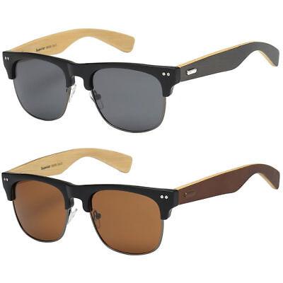 Bamboo Sunglasses Wood Wooden Men Women Summer Glasses Retro Vintage (Vogue Sunglasses Men)