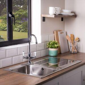 Rangemaster Glendale GL9501 950 x 508mm Stainless Steel Kitchen Sink + Wastes