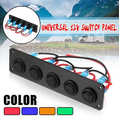 Gang Push Button (12/24V 5 Gang On/Off Push Button Rocker Switch Panel Car Trailer Circuit)