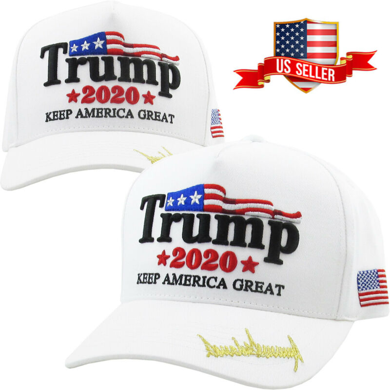 Trump 2020 White Hat Cap Keep America Great Make America Great Again KAG MAGA