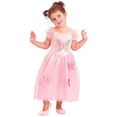 niedliches Kleid Schmetterling Kostüm rosa Prinzessin Engel Fee 80-92  - Niedliche Schmetterlings Kostüm