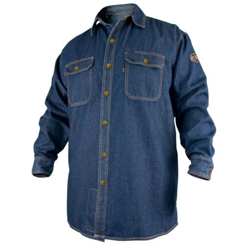 Revco Black Stallion Denim 8oz FR Welding Shirt (X-Large) (FS8-DNM)