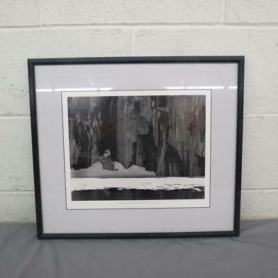 (Ansel Adams Frozen Lake and Cliffs Matted & Framed Black & White Print 17