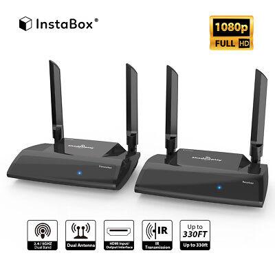 InstaBox Shadowplay SP2 HD 1080P 330ft HDMI Wireless Transmitter + Receiver (Wireless Transmitter Receiver Kit)