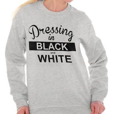Dressing In Black and White Stylish Fashion Sweat Shirt Sweatshirt For Womens White Womens Sweatshirt
