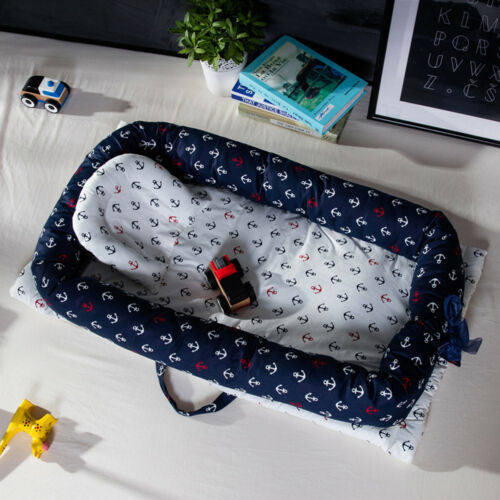 Portable Foldable Baby Sleep Bed + Pillow Travel Newborn Nur