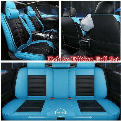 Deluxe 5D Surround Car Seat Cover PU Leather Full Set For Interior Accessories