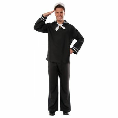 First Mate Costume Mens Sailor USA Marine Navy Village People Plus Size - Village People Halloween Costumes