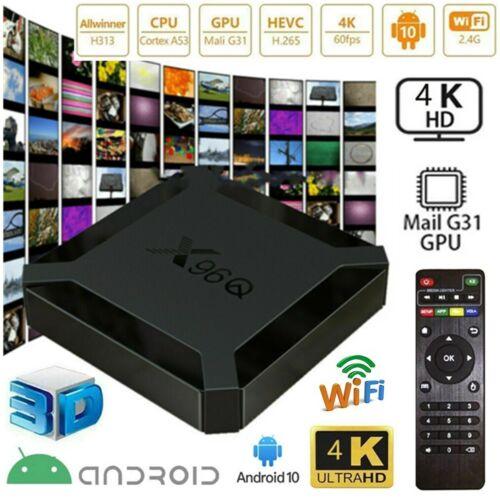 X96Q H313 Quad Core 2+16GB Android 10.0 OS 4K TV BOX 2.4G WIFI HDMI Media Player Consumer Electronics