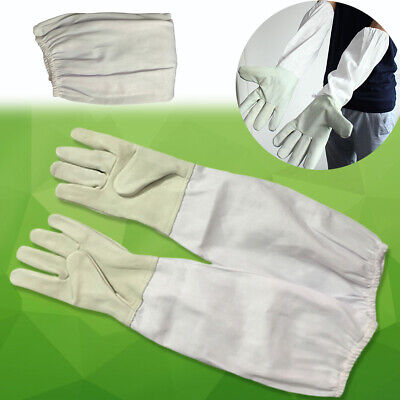 Xl Goatskin Protective Beekeeping Gloves Bee Keeping Vented Long Sleeves Us