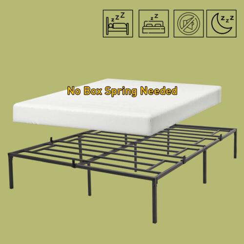 "14 "" Queen/ Full/ Twin Multi Size Bed Iron Frame Platform Mattress Foundation"