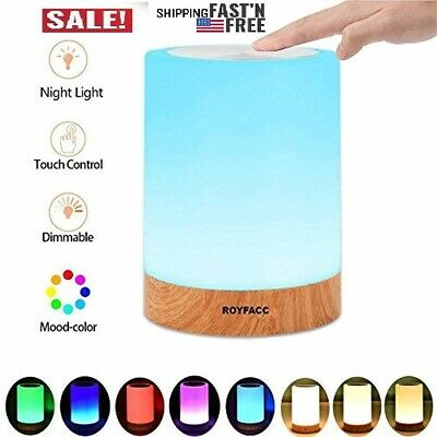 ROYFACC Table Lamp Touch Sensor Lamp Bedside LED Night Light for Kids Bedroom  ()