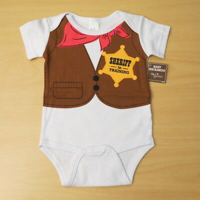 New Baby Boy Halloween Costume Sheriff Cowboy One Piece Suit Outfit 3 6 months - Baby Boy Costumes 3 6 Months