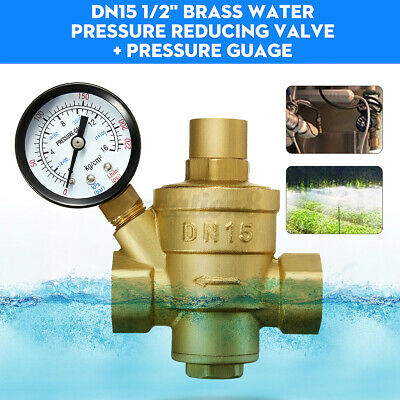 Dn15 12 Bspp Brass Water Pressure Reducing Valve With Gauge Flow