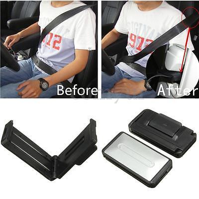2x Car Seat Belt Adjuster Stopper Clip Extender Buckle Improve Safety Kid SILVER