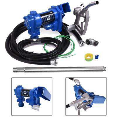 Fuel Gasoline Transfer Pump 12 Volt20gpm Gas Diesel Kerosene Nozzle Kit Dc 12v
